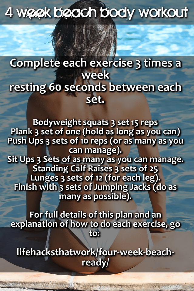 Beach Ready Workout