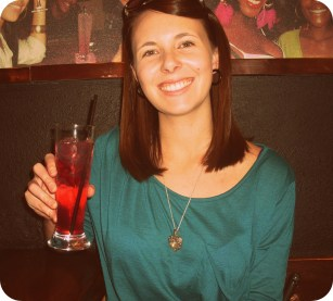 Enjoying a delicious cocktail at Six bar - think this was called a 'Supermodel'