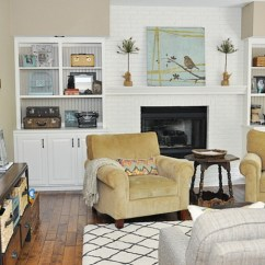 Formal Living Room With Brick Fireplace Rooms To Go Tv Our Life In A Flash From Olive Green Carpet And Brown Walls Oak Built Ins Pinkish