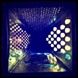 inside a grater