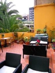 Outdoor terrace at Casa Consell