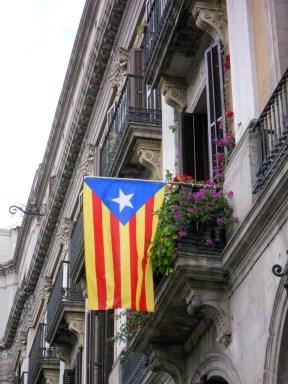 Flying the flag of Catalunya