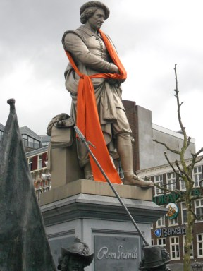 Even Rembrant got into the spirit of Queen's Day