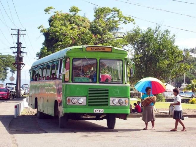 Kelionė per Fidžio salas - Fidžio autobusas