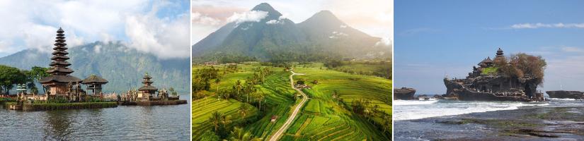 Balio įžymios vietos - turas po Balį