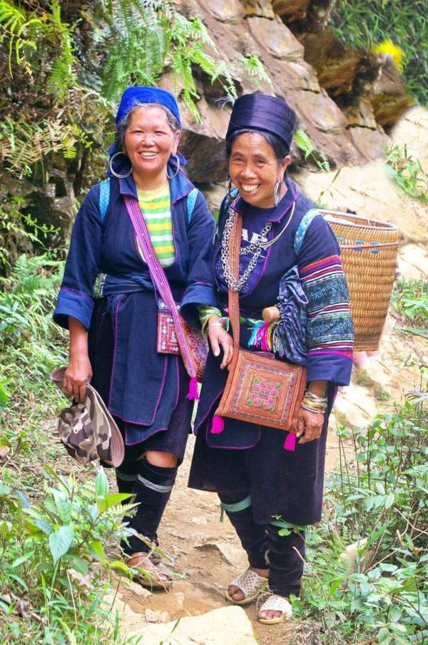 Vietnamo Sa Pa regiono moterys