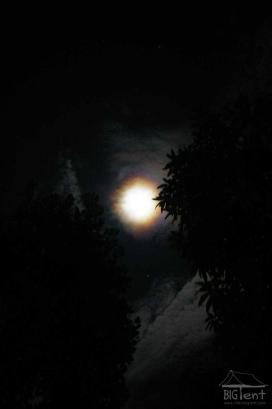 Full moon outside