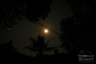 "Full moon in ""big tent"""