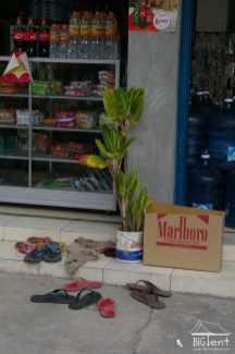 Shoes outside the shop