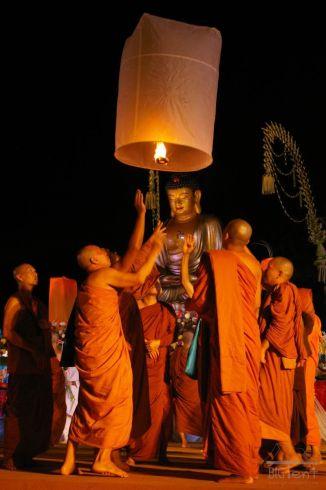 Monks in Vesak day