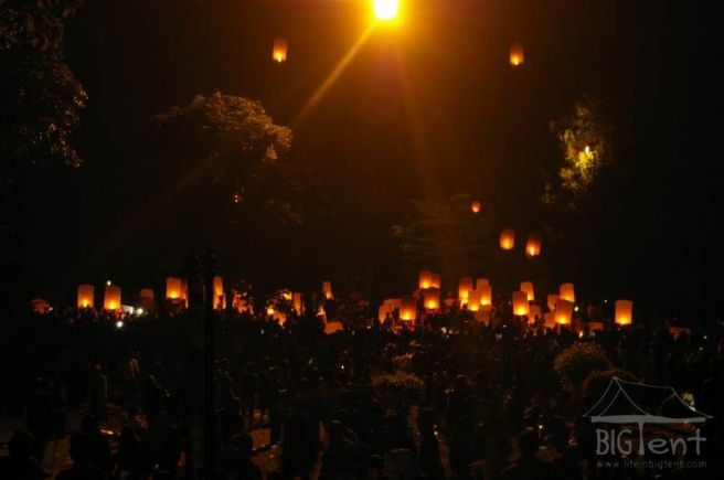 Lanterns in Vesak day