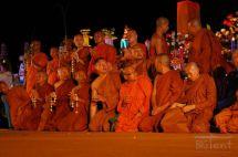 Monks in Waisak day