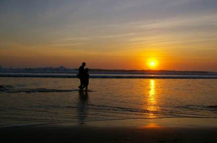 Sunset in Seminyak beach