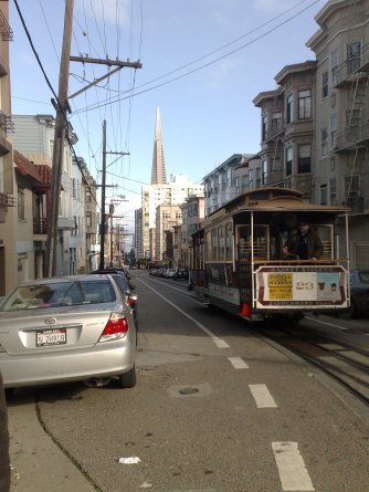 Life in Camelot in San Francisco, cable car