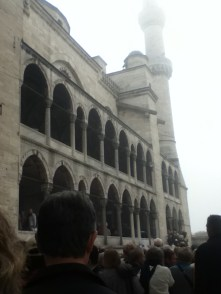 Our queue moves closer to the Blue Mosque - Istanbul, Turkey
