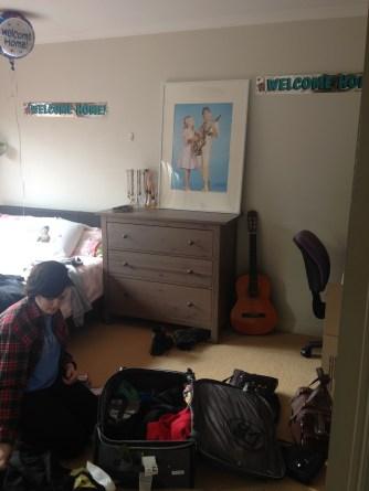 The unpacking begins