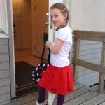 Vår stora Förskole-klass tjej!