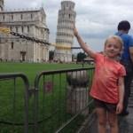 Idag har vi sett ett snett fint torn ;)