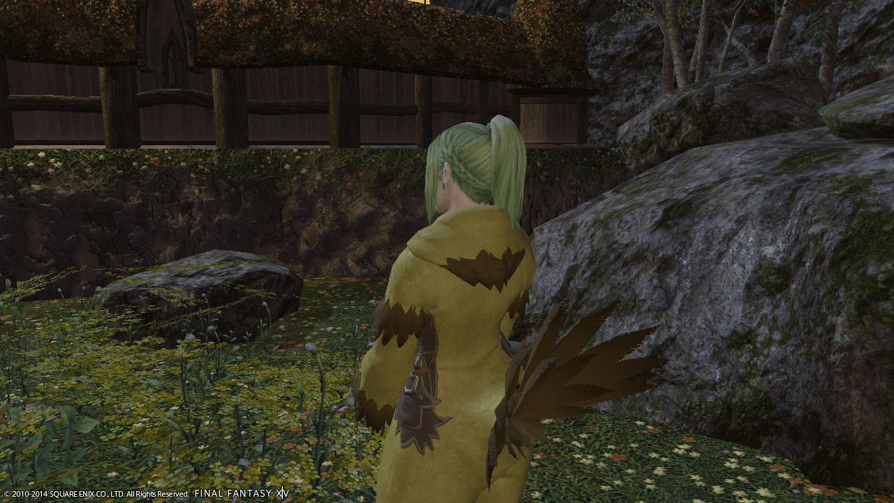 Patricia in a chocobo suit!