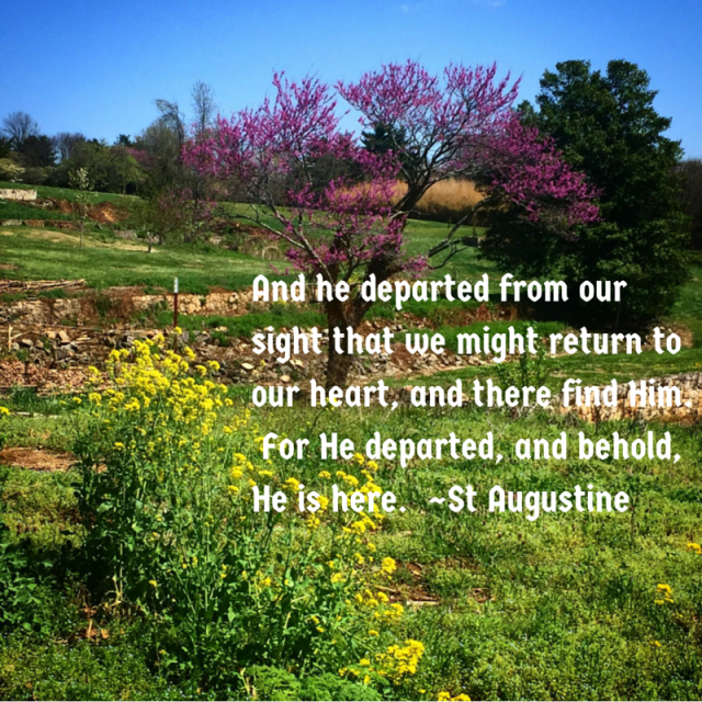 And he departed from our sight that we