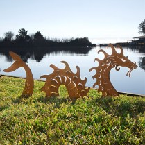sea serpent sculpture