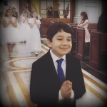 First Holy Communion boy