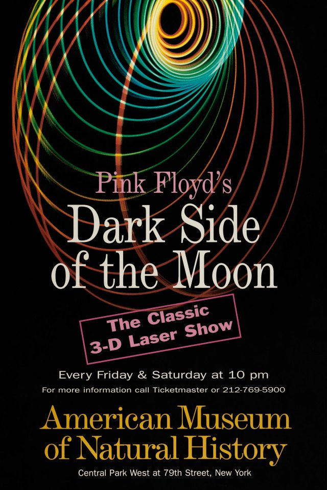 "American Museum of Natural History/Hayden Planetarium's Pink Floyd ""Dark Side of the Moon"" Classic 3D Laser Show Poster"