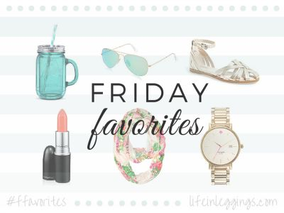 Friday Favorites Button - Life In Leggings Link Up
