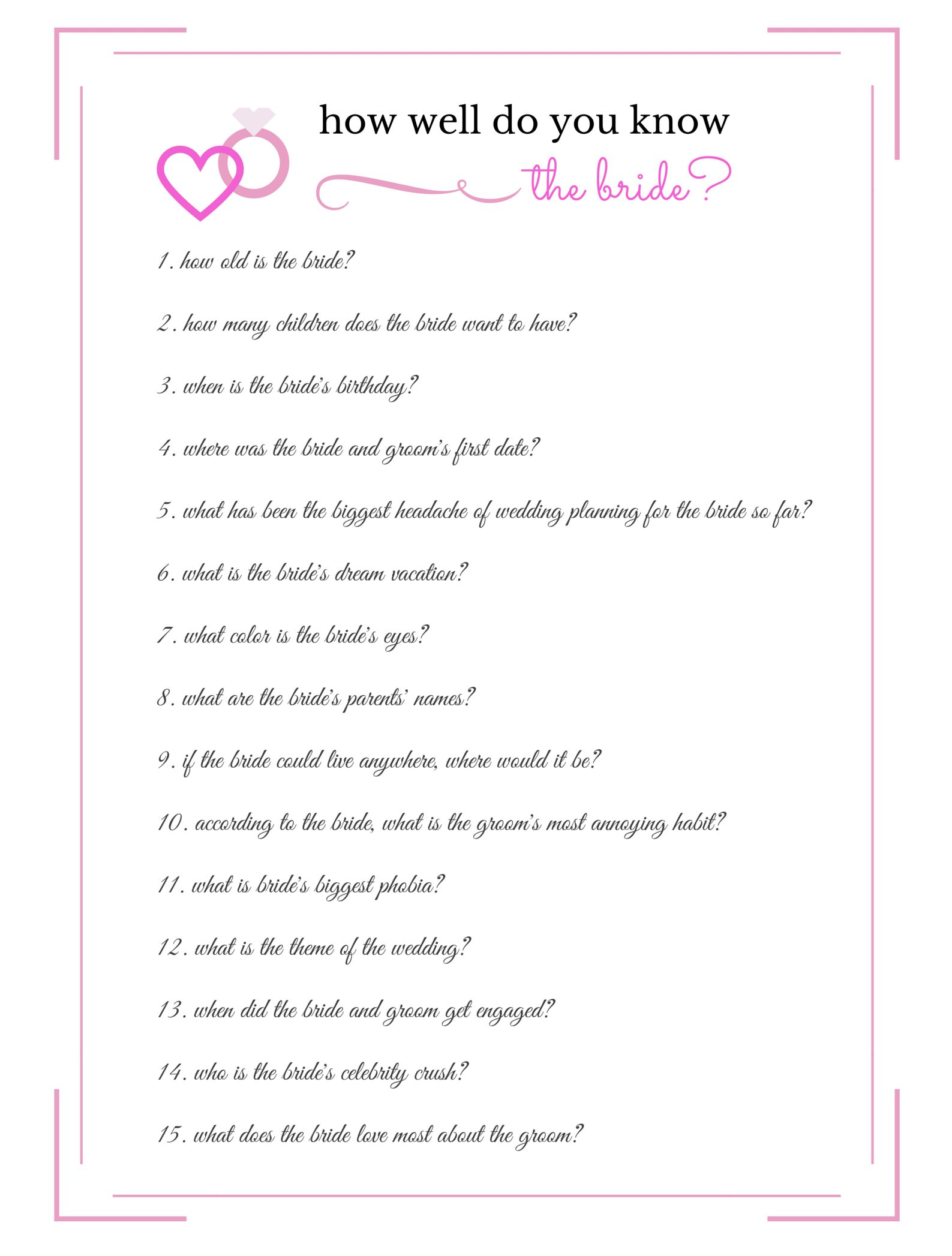 From Wild to Sober... 10 Bachelorette Party Games to Have