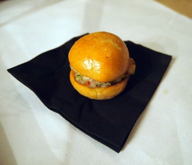 Mini burger, South Place Hotel
