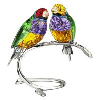 Design pick: Gouldian finches from Swarovski Crystal