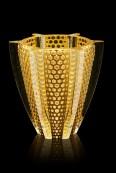 Rayons - Vase GM feuilles d or, edition limitee 88 ex - fond noir