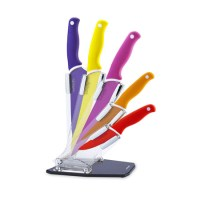 Home pick: Multi-coloured knife block from Sabichi