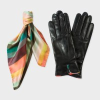 Accessories pick: Women's silk scarf and lambskin gloves gift set from Paul Smith