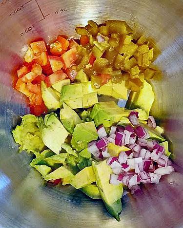 Guac mixing bowl