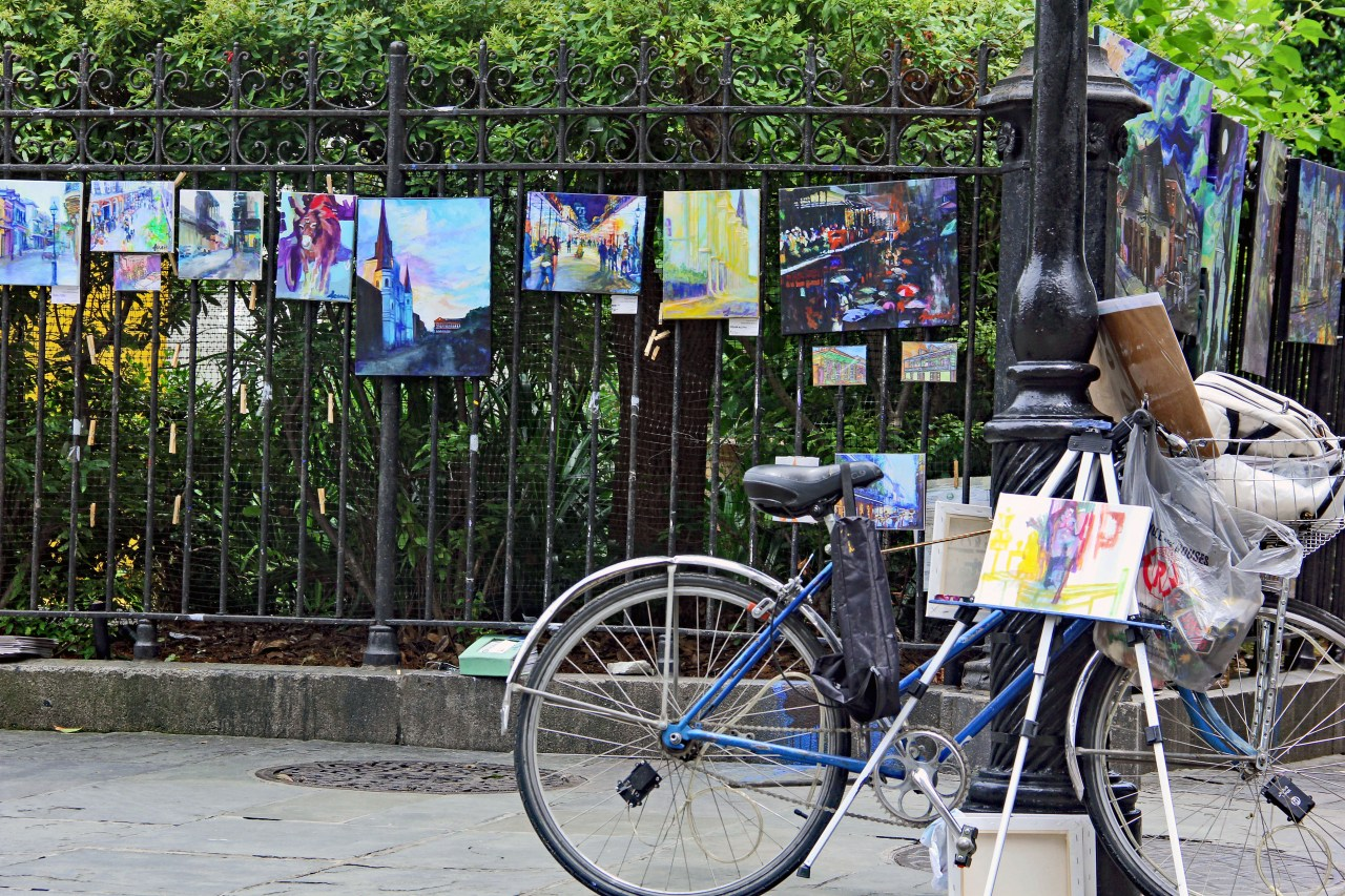 Bike and paintings 2