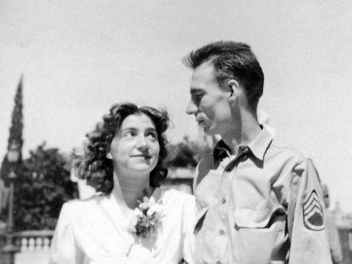 Richard and Livia Anderson June 1945 wedding
