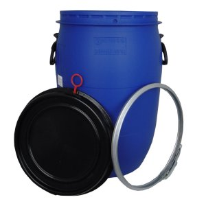 60 litre blue container
