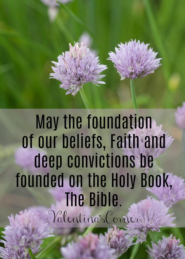 The Foundation of my Faith