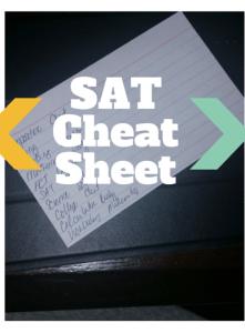 SAT Cheat Sheet