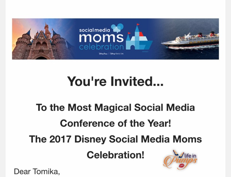 Disney Social Media Mom Invitation email pixie dust