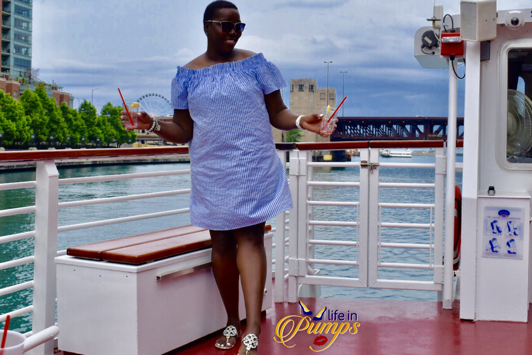 shoreline cruise, chicago, life in pumps, #choosechicago, #shorelineboattour
