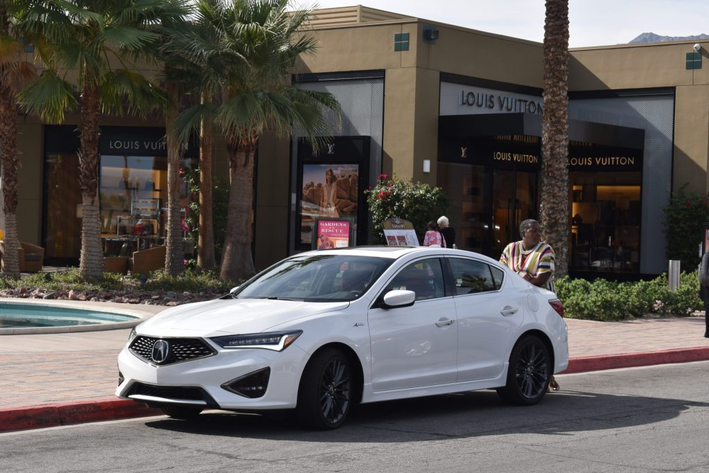 Shopping in Palm Springs with the Acura. Louis Vuitton