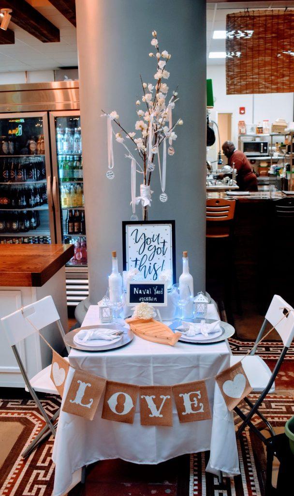 Broad Street Run Table Idea Diner en Blanc