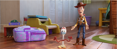 Woody meets Forky in Toy Story 4. #ToyStory4 #Disney #Pixar