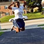 Brown Girl Jumping