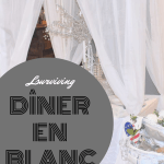 white table setting perfect for Diner en Blanc