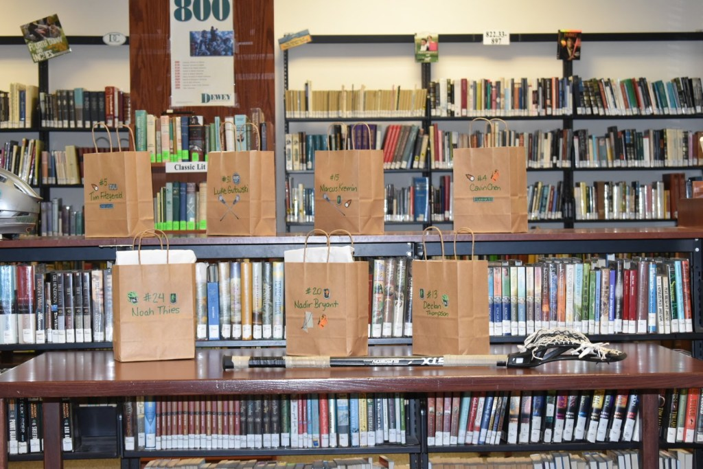 library books and shelves