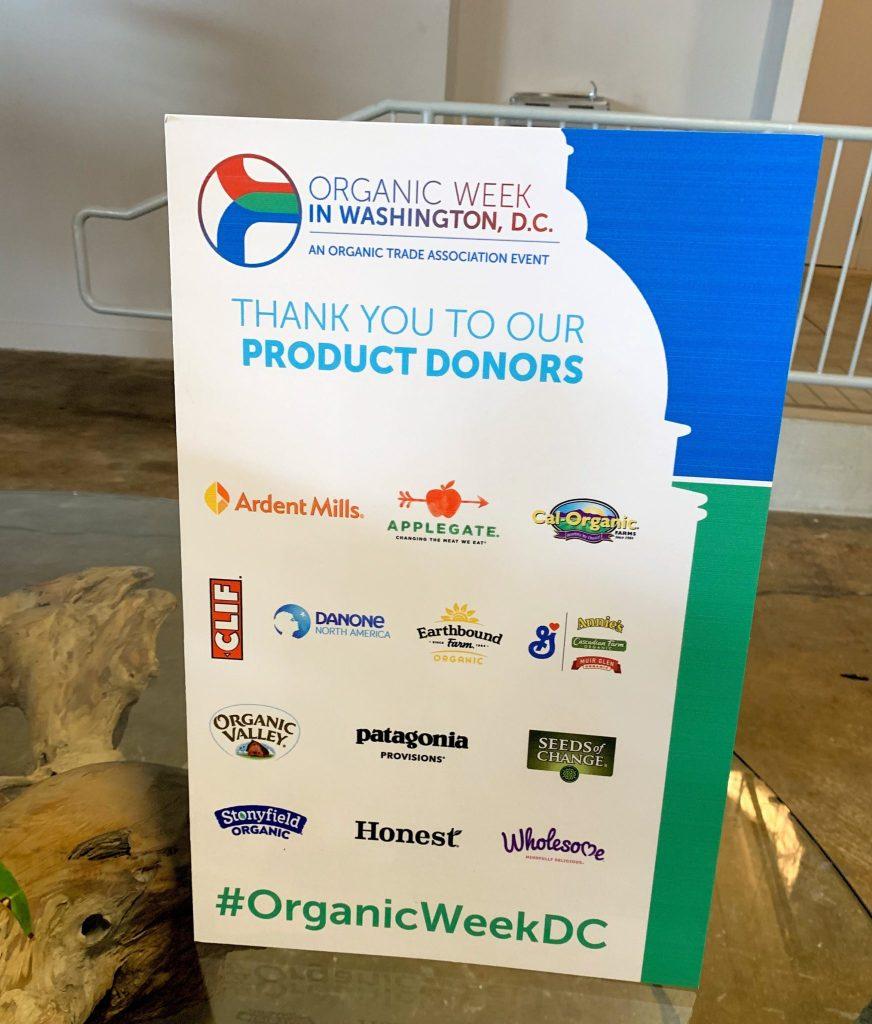 Organic Week DC Sponsors
