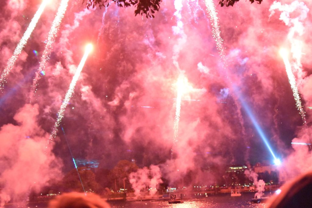 Epcot Forever is the new show that showcases soaring fireworks inspiring music, lasers and colorful glowing kites flying above and around the park's World Showcase Lagoon.